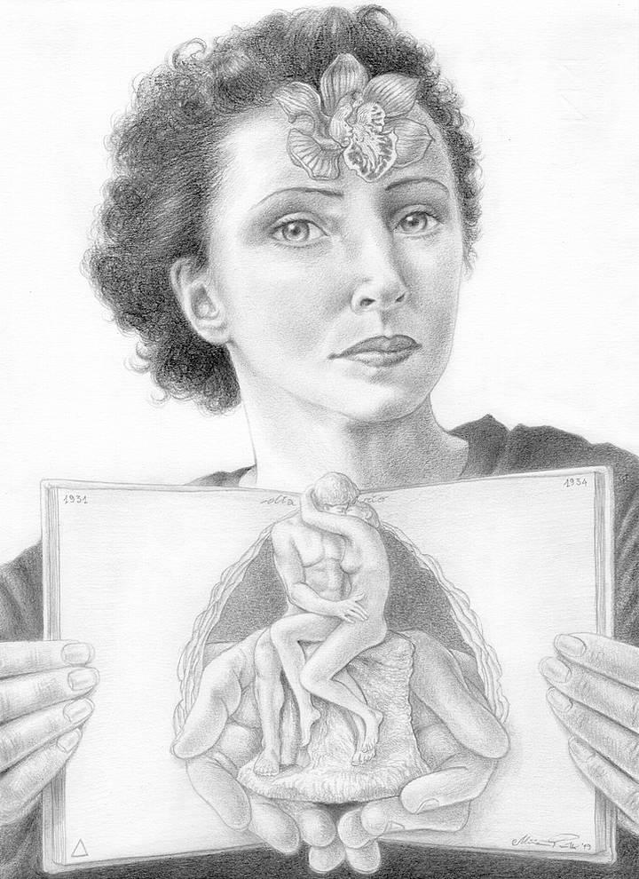 Miriam Tritto, Anais Nin graphite portrait