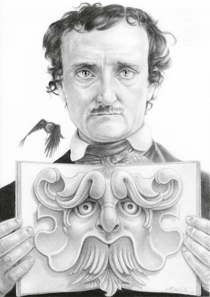 Miriam Tritto, Edgar Allan Poe graphite portrait