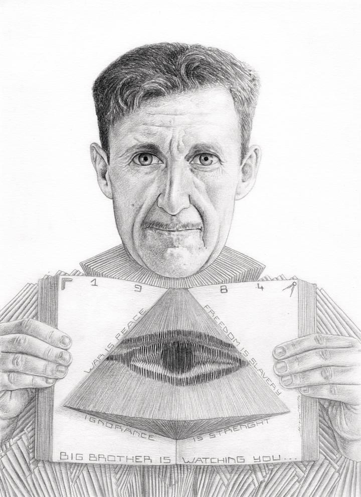 Miriam Tritto, George Orwell graphite portrait