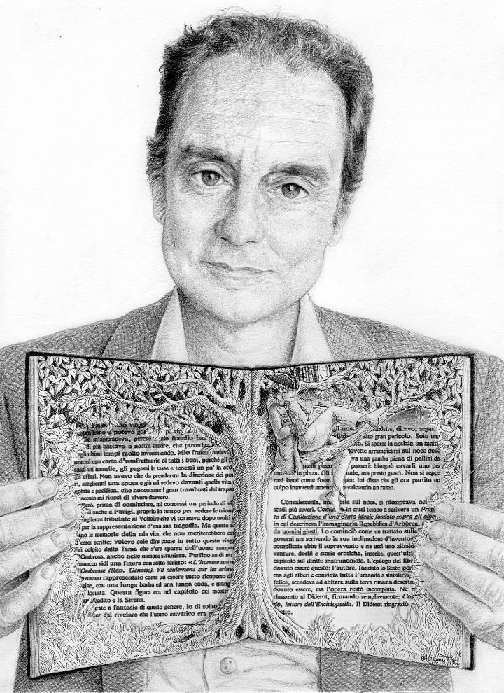 Miriam Tritto, Italo Calvino graphite portrait