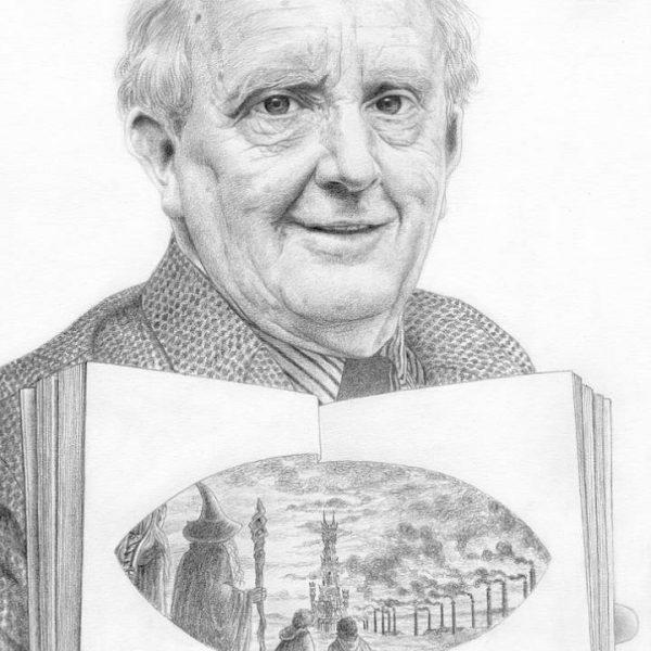 Miriam Tritto, J.R.R. Tolkien graphite portrait