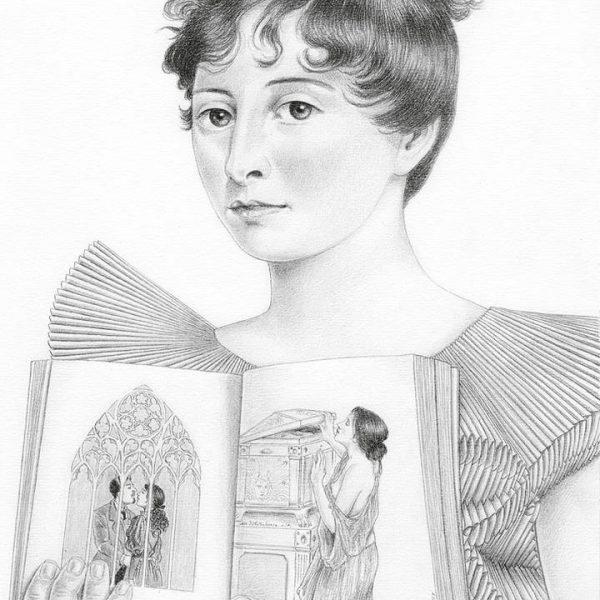 Miriam Tritto, Jane Austen graphite portrait