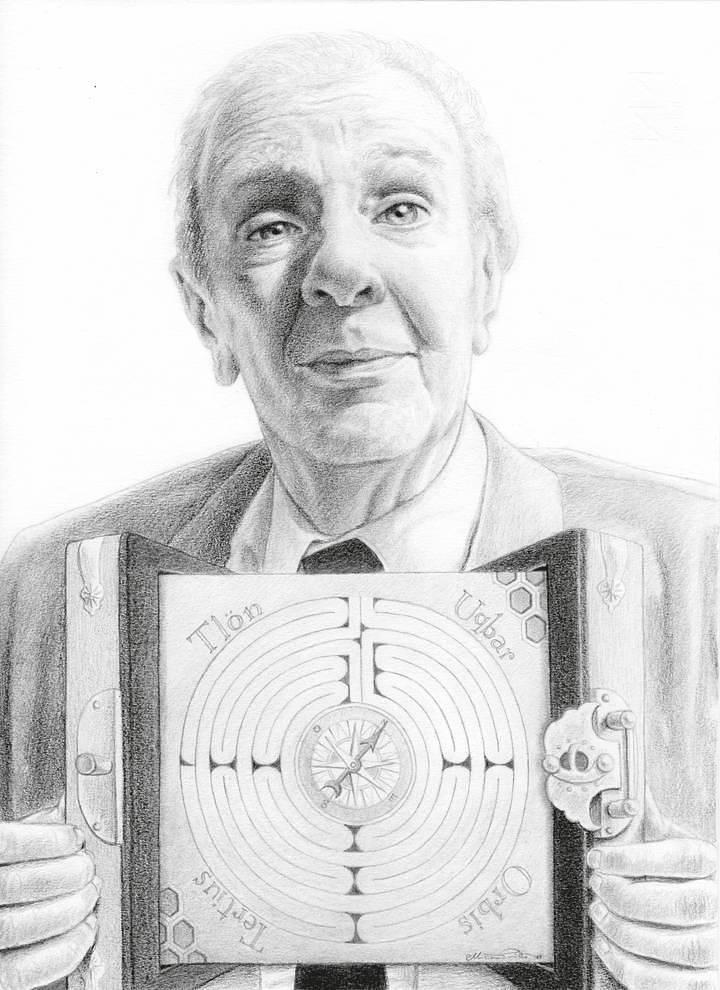Miriam Tritto, Jorge Luis Borges graphite portrait