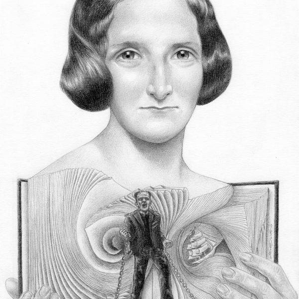 Miriam Tritto, Mary Shelley graphite portrait