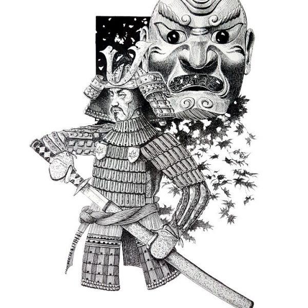 Miriam Tritto, Hagakure ink drawing illustration