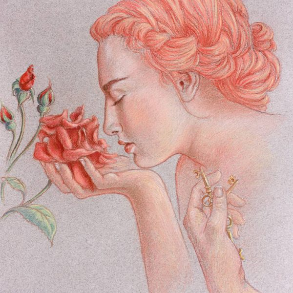 Miriam Tritto, The rose garden of philosophers pastels drawing illustration