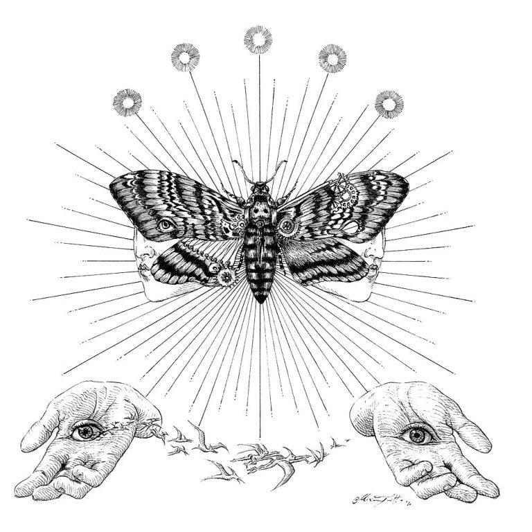 Miriam Tritto Onirica Acherontia ink illustration 1000