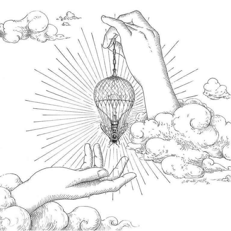 Miriam Tritto Onirica Apis ink illustration 1000