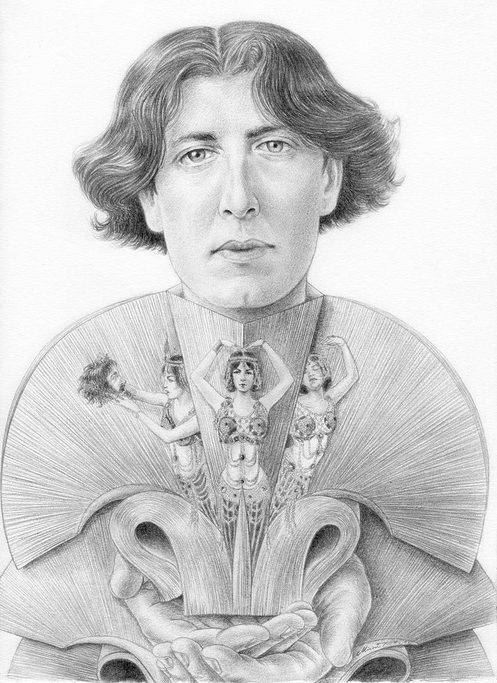 Miriam Tritto, Oscar Wilde graphite portrait