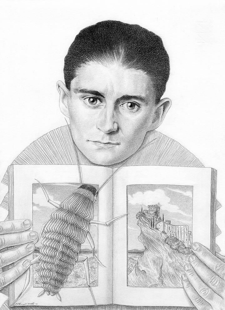 Miriam Tritto, Franz Kafka graphite portrait