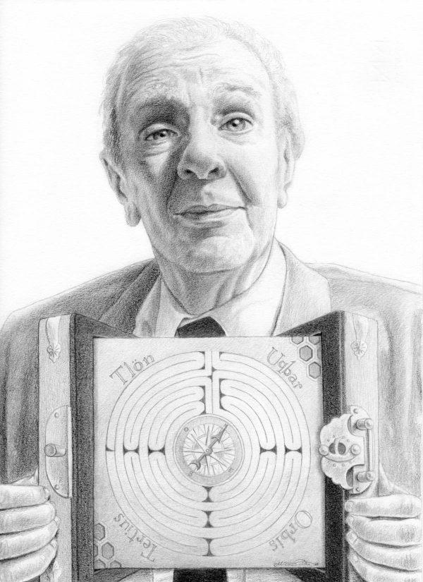 Miriam Tritto Jorge Luis Borges Ficciones graphite portrait 1200x1650 1