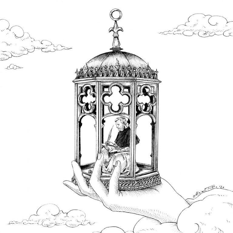 Miriam Tritto Lumina Occidens ink illustration