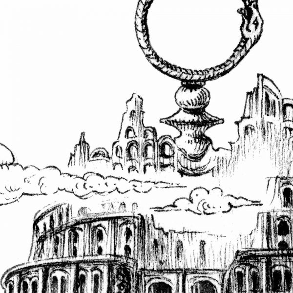 Miriam Tritto Lumina Mundi ink on paper 20x20 cm 2020 detail I
