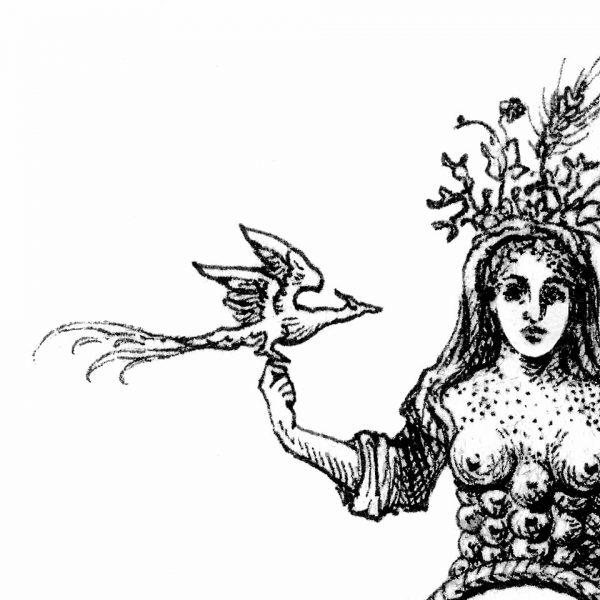 Miriam Tritto Lumina Mundi ink on paper 20x20 cm 2020 detail III