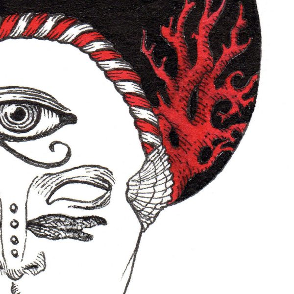 Proteus Pandemic ink and ecoline illustration by Miriam Tritto detail II